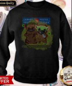 Baby Groot And Baby Yoda Face Mask Star Wars Darth Vader Canada Post Together We Can Beat Covid 19 Sweatshirt