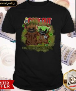 Baby Groot And Baby Yoda Face Mask Star Wars Darth Vader Cook Out Together We Can Beat Covid 19 Shirt