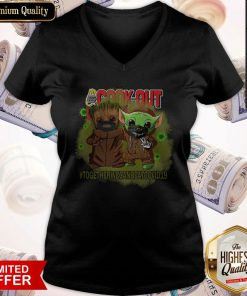 Baby Groot And Baby Yoda Face Mask Star Wars Darth Vader Cook Out Together We Can Beat Covid 19 V- neck