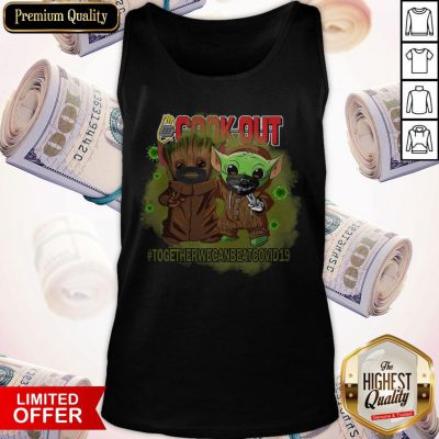 Baby Groot And Baby Yoda Face Mask Star Wars Darth Vader Cook Out Together We Can Beat Covid 19 Tank Top