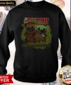 Baby Groot And Baby Yoda Face Mask Star Wars Darth Vader Cook Out Together We Can Beat Covid 19 Sweatshirt