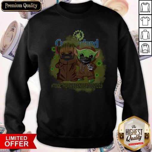 Baby Groot And Babay Yoda Face Mask Star Wars Darth Vader Cumberland Together We Can Beat Covid 19 Sweatshirt
