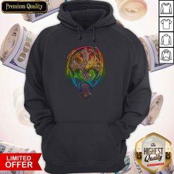 Premium Cross Dragon LGBT Color Hoodiea