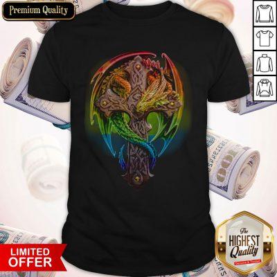 Premium Cross Dragon LGBT Color Shirt