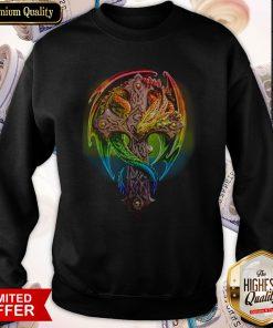 Premium Cross Dragon LGBT Color Sweatshirt