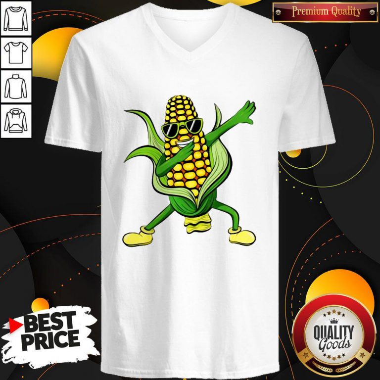Dabbing Corn Cob Dancing Farm Classic V- neck