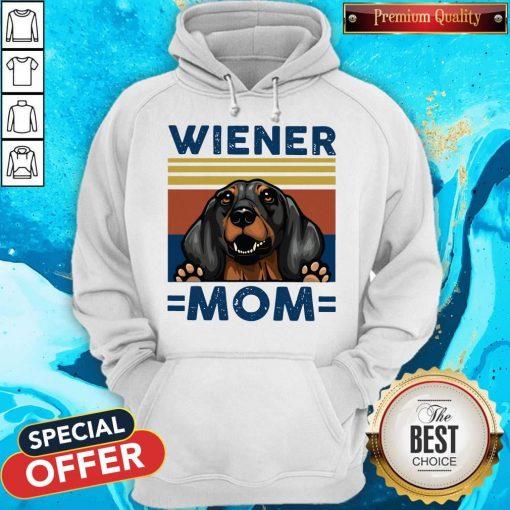 Dachshund Wiener Mom Vintage Hoodiea
