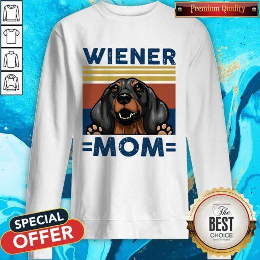 Dachshund Wiener Mom Vintage Sweatshirt