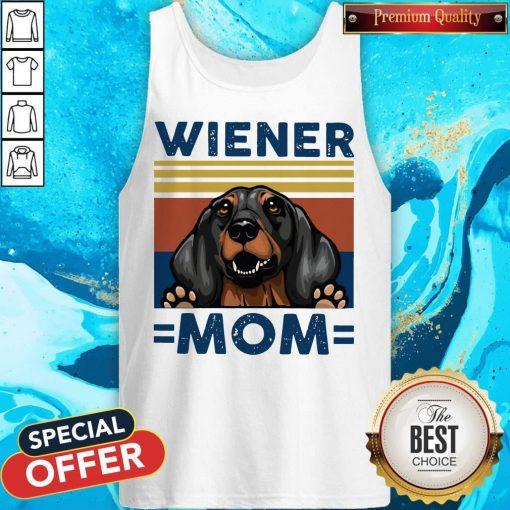 Dachshund Wiener Mom Vintage Tank Top
