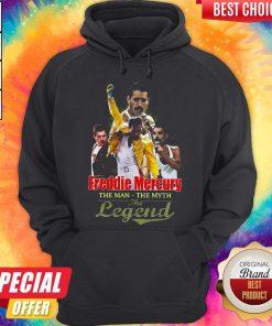 Freddie Mercury The Man The Myth The Legend Hoodiea
