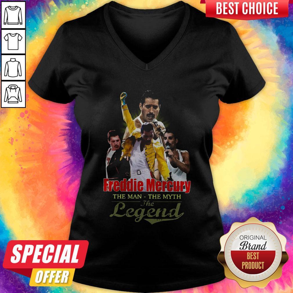 Freddie Mercury The Man The Myth The Legend V- neck