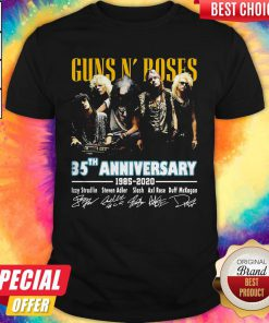 Guns N' Poses 35th Anniversary 1985 2020 Signatures Shirt