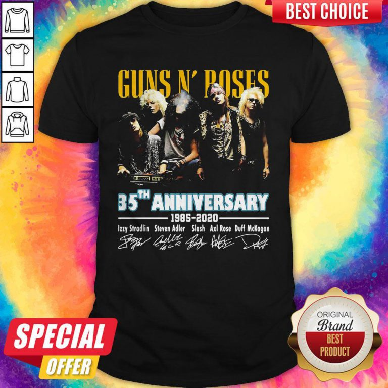 Guns N' Poses 35th Anniversary 1985 2020 Signatures Shirt