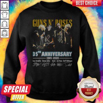 Guns N' Poses 35th Anniversary 1985 2020 Signatures Sweatshirt