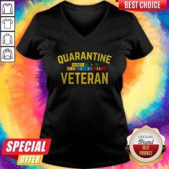 Official Quarantine Veteran V- neck