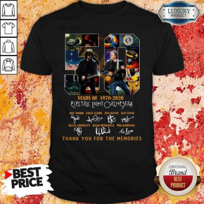ELectric Light Orchestra 50 Years Of 1970 2020 Thank You For The Memories Signatures Shirt