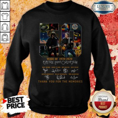 ELectric Light Orchestra 50 Years Of 1970 2020 Thank You For The Memories Signatures Sweatshirt