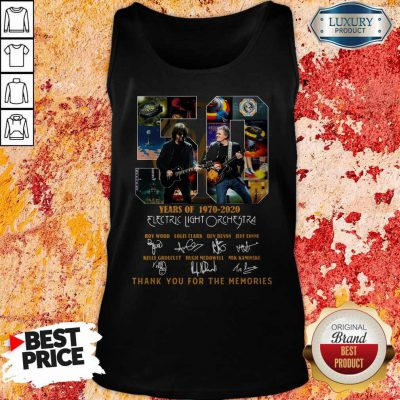ELectric Light Orchestra 50 Years Of 1970 2020 Thank You For The Memories Signatures Tank Top