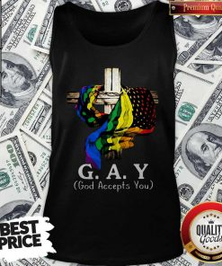 LGBT Cross Jesus Gay God Accepts You Tank Top