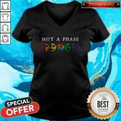 LGBT Not A Phase V- neck