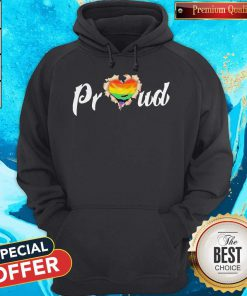 LGBT Proud Blood Inside Me Heart Hoodie