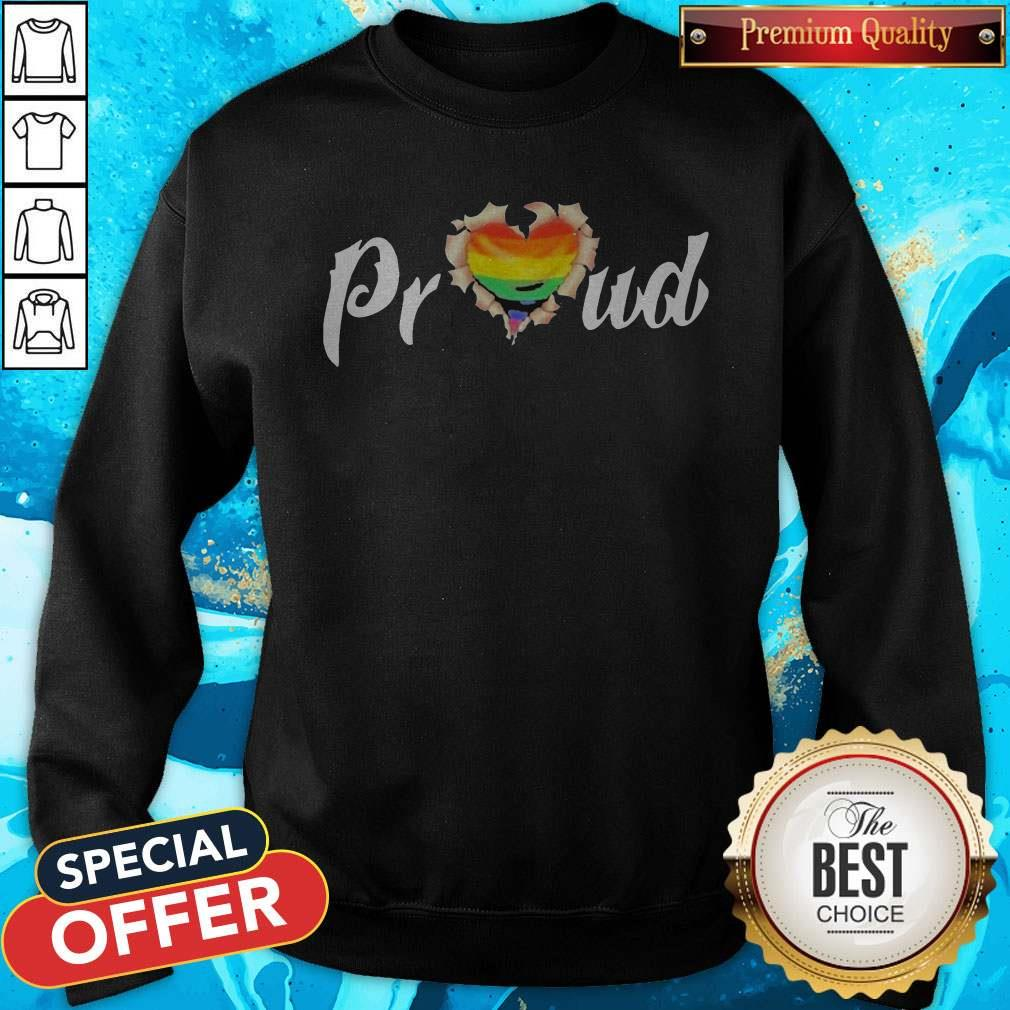LGBT Proud Blood Inside Me Heart Sweatshirt