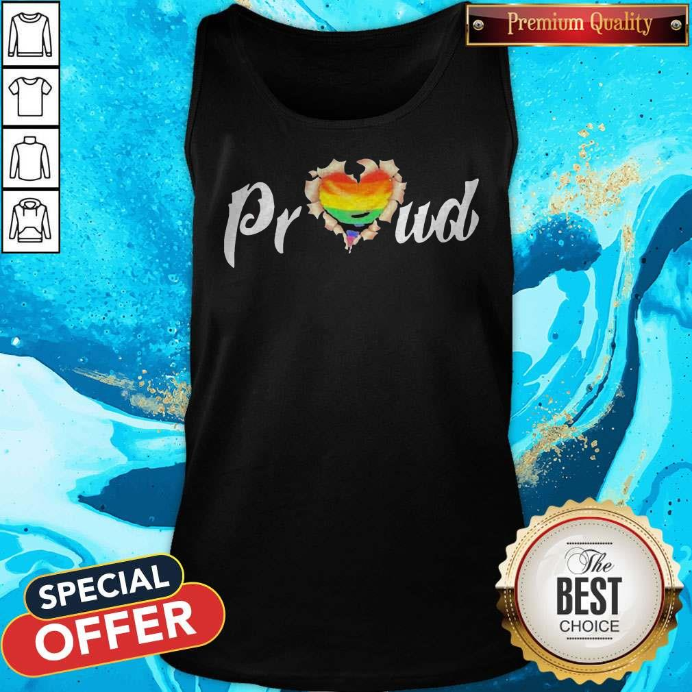 LGBT Proud Blood Inside Me Heart Tank Top