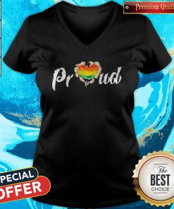 LGBT Proud Blood Inside Me Heart V-neck
