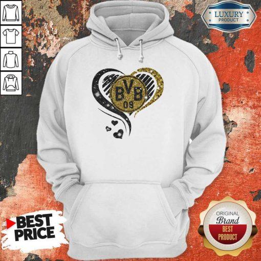 Love Borussia Dortmund Hearts Diamond Hoodiea