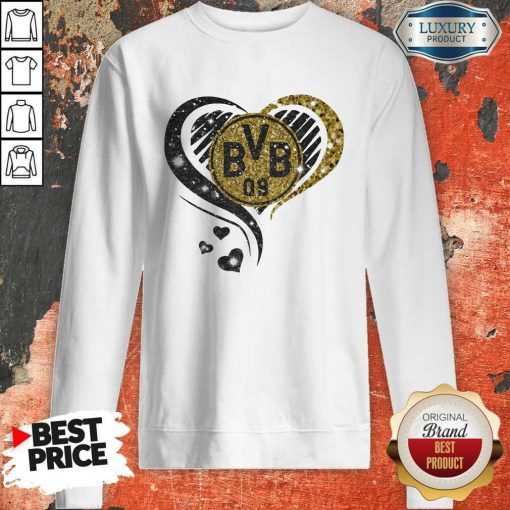 Love Borussia Dortmund Hearts Diamond Sweatshirt