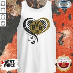 Love Borussia Dortmund Hearts Diamond Tank Top
