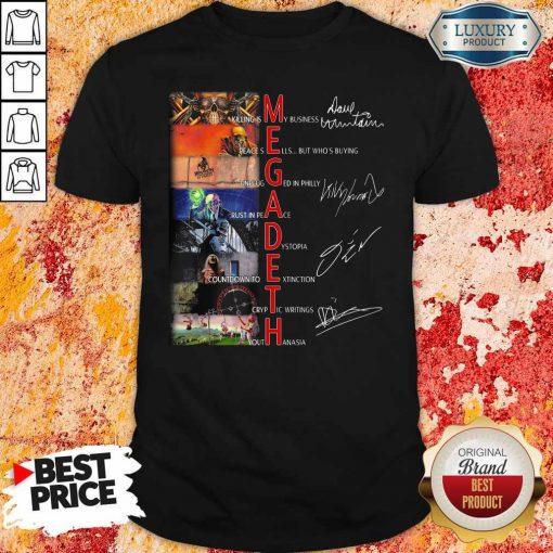 Megadeth Band Members Signatures Shirt