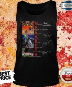 Megadeth Band Members Signatures Tank Top