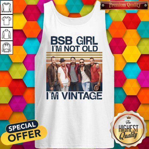 Official BSB Girl I'm Not Old I'm Vintage Tank Top