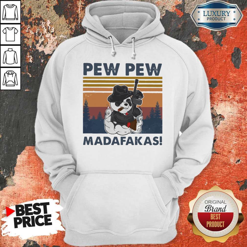 Panda Mafia Pew Pew Madafakas Vintage Hoodiea
