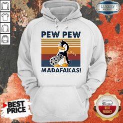 Penguin Mafia Pew Pew Madafakas Vintage Hoodiea
