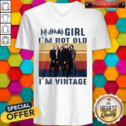 Premium Def Leppard Girl I'm Not Old I'm Vintage V- neck