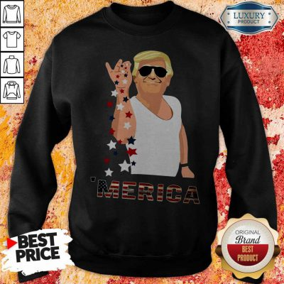 Premium Donald Trump Salt Bae Merica Sweatshirt