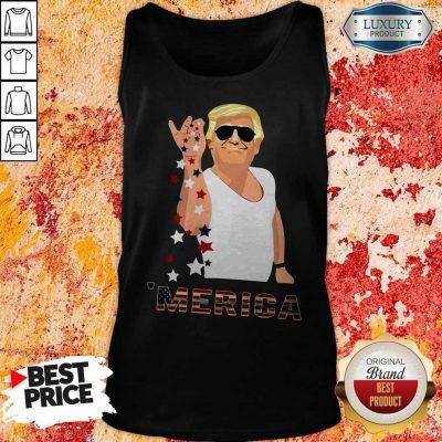 Premium Donald Trump Salt Bae Merica Tank Top