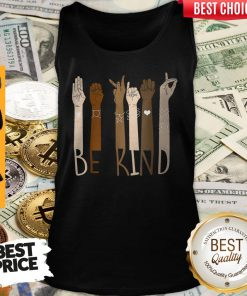 Pretty Be Kind Hand Sign Language Unisex Tank Top