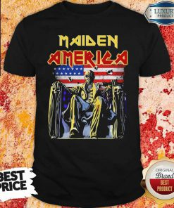 Pretty Iron Maiden American flag ShirtPretty Iron Maiden American flag Shirt