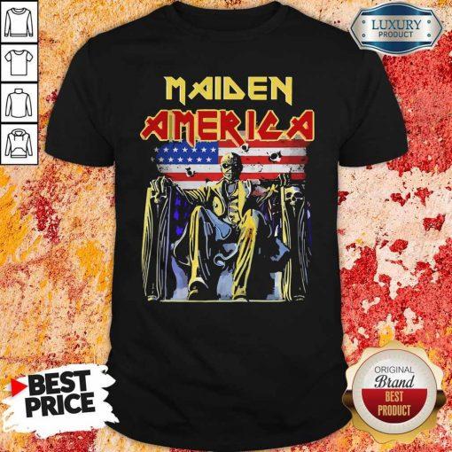 Pretty Iron Maiden American flag ShirtPretty Iron Maiden American flag Shirt