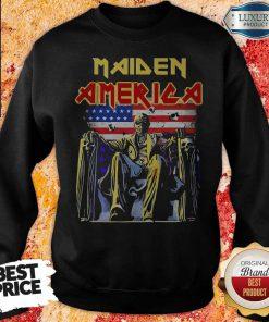 Pretty Iron Maiden American flag ShirtPretty Iron Maiden American flag Sweatshirt