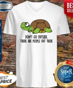 Pro Turtle Don't Go Outside Classic V-neck