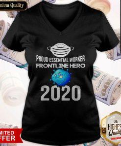 Proud Essential Worker America Frontline Hero 2020 V- neck