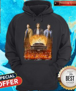 Supernatural 2005 2020 15 Seasons 327 Episodes Signatures Hoodiea
