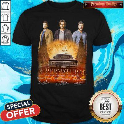 Supernatural 2005 2020 15 Seasons 327 Episodes Signatures Shirt