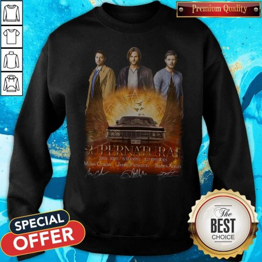 Supernatural 2005 2020 15 Seasons 327 Episodes Signatures Sweatshirt