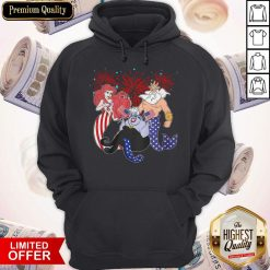 The Little Mermaid Happy The 4th Of July American Flag Independence Day Hoodie