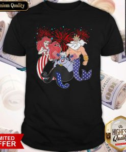 The Little Mermaid Happy The 4th Of July American Flag Independence Day Shirt